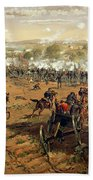 Battle Of Gettysburg Beach Towel by Thure de Thulstrup
