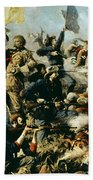 Battle Of Little Bighorn Beach Towel