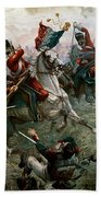 Battle Of Waterloo Beach Towel by William Holmes Sullivan