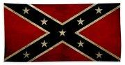 Battle Scarred Confederate Flag Beach Towel
