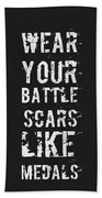Battle Scars - For Men Beach Sheet
