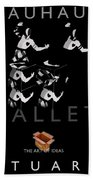 Bauhaus Ballet Black Beach Towel by Charles Stuart