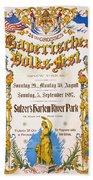 Bavarian Volksfest New York Vintage Poster 1897 Beach Towel