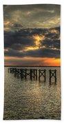 Bay Bridge Sunset Beach Towel