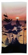 Bay Of Fundy Sunset Beach Towel