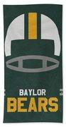Baylor Bears Vintage Football Art Beach Towel