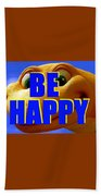 Be Happy Dino Beach Towel