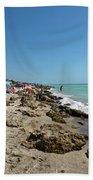 Beach And Rocks Beach Towel