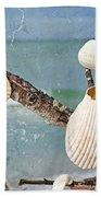 Beach Art - Seashell Shrine - Sharon Cummings Beach Towel