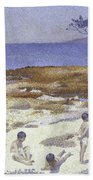 Beach At Cabasson Beach Towel