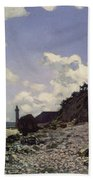 Beach At Honfleur Beach Towel