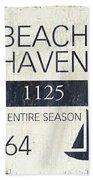 Beach Badge Beach Haven Beach Towel