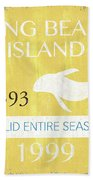 Beach Badge Long Beach Island 2 Beach Towel