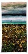 Beach Flowers Beach Towel