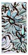 Beach Glass Flowers 2- Art By Linda Woods Beach Towel
