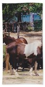 Beach Horses Beach Towel