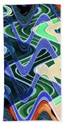 Beach Hotel Abstract 8102-3 Beach Towel