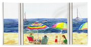 Beach House Window Beach Towel