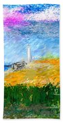 Beach Lighthouse Beach Towel