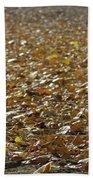 Beach Of Autumn Leaves Beach Sheet