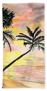 Beach Sunrise Beach Towel