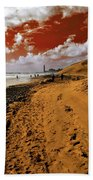 Beach Under A Blood Red Sky Beach Towel