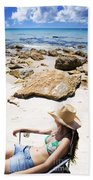 Beach Woman Beach Towel by Jorgo Photography - Wall Art Gallery