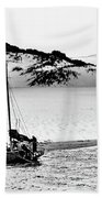 Beached At Coorong Bw Beach Towel