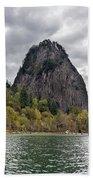 Beacon Rock At Columbia River Gorge Beach Sheet