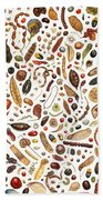 Bean Painting Beach Towel