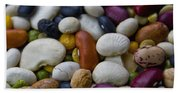 Beans Of Many Colors Beach Towel