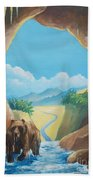 Bear Going Home Beach Towel