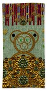 Bear In The Blueberry Wood Beach Towel