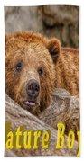 Bear Nature Boy Beach Towel