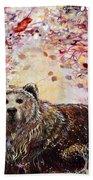 Bear With A Heart Of Gold Beach Towel