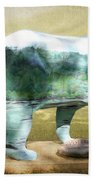 Bear On The Little Tennessee River Beach Towel
