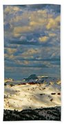 Bear Tooth Mountain Range Beach Towel