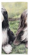 Bearded Collies Beach Towel