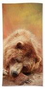 Bearly Asleep Beach Towel