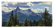 Beartooth Mountains In Spring Beach Towel
