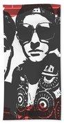 Beastie Boys Graffiti Tribute Beach Towel