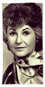Beatrice Arthur, Vintage Actress Beach Towel