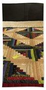 Beautiful Amish Quilt Beach Sheet
