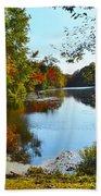 Willow Pond, Caleb Smith Preserve Beach Towel