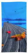 Beautiful Autumn Morning Beach Towel