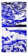 Beautiful Blue Pop Art Scene Beach Towel