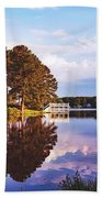 Beautiful Bunn Lake - Zebulon, North Carolina Beach Towel