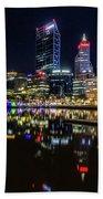 Beautiful Cityscape At Perth's Elizabeth Quay  Beach Towel