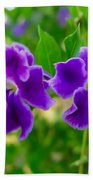 Beautiful Duranta Flower Blossoming Beach Towel