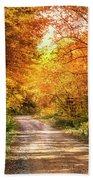 Beautiful Fall Day Beach Towel